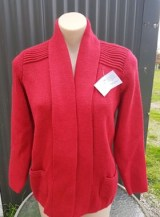 california short cardigan red